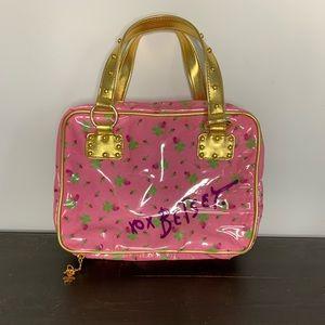 Betsey Johnson travel makeup cosmetics bag